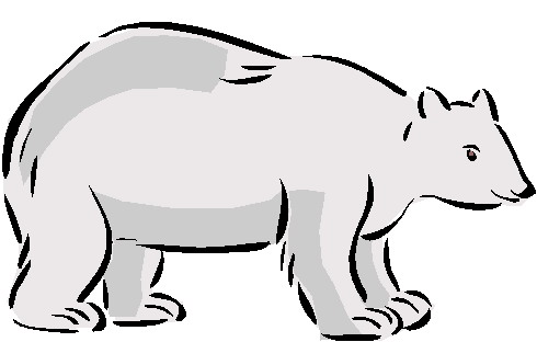 490x312 Polar Bear Clip Art Black And White Free Clipart 4