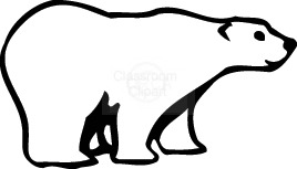 268x153 Polar Bear Clip Art Black And White Free Clipart 4