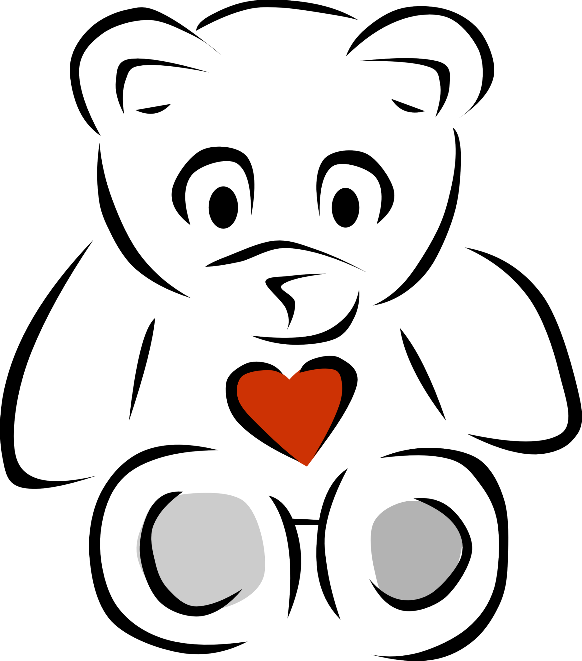 1871x2123 Teddy Bear Black And White Teddy Bear Clipart Black And White Free