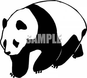 300x268 And White Panda Bear Clip Art Image