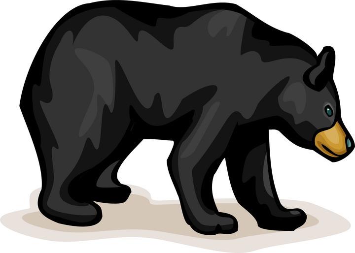 720x514 Free Clip Art Black Bear Clipart