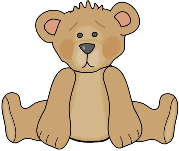 600x507 Teddy Bear Clipart