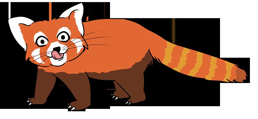 863x400 Bear Clipart Red Panda