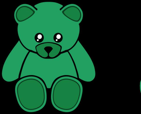 600x483 Bear Clipart Green
