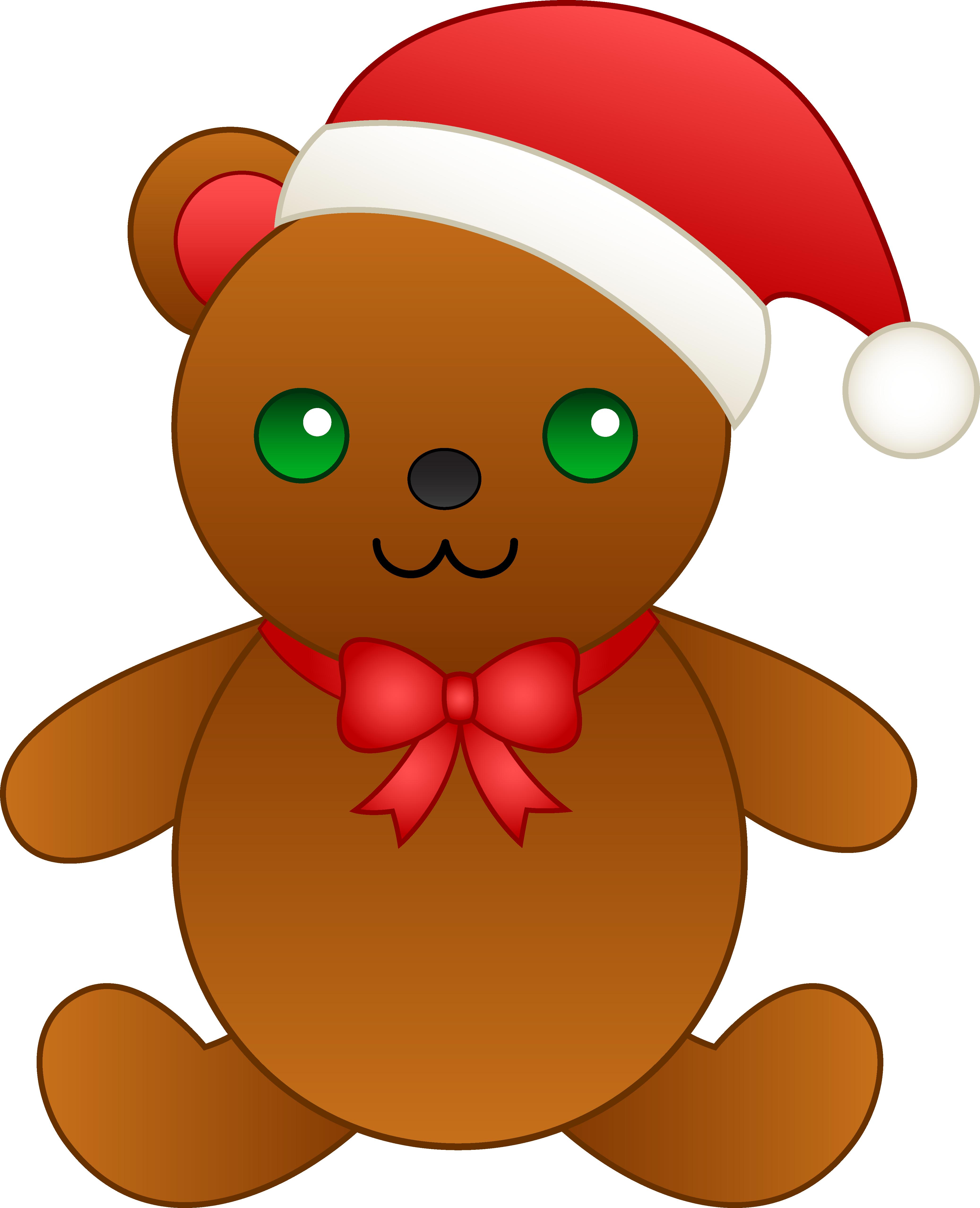 4147x5110 Christmas Teddy Bear With Santa Hat