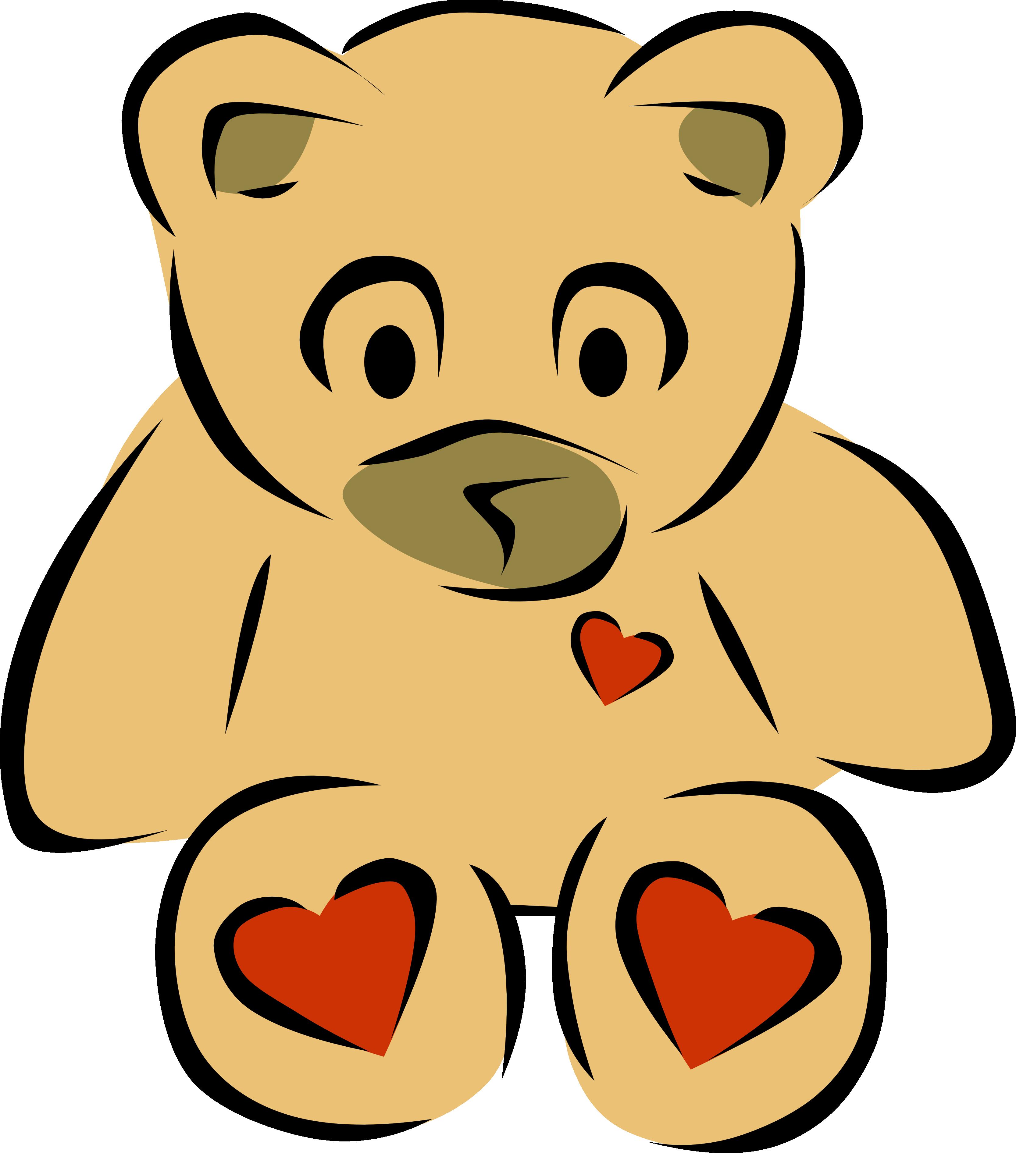 3333x3784 Clip Art Bear Heart 2 Christmas Xmas Teddy Bear Clipart