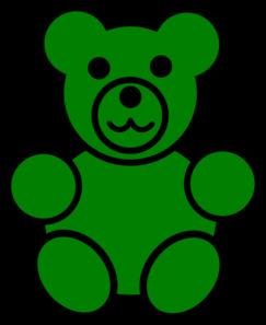 243x297 Green Bear Clip Art