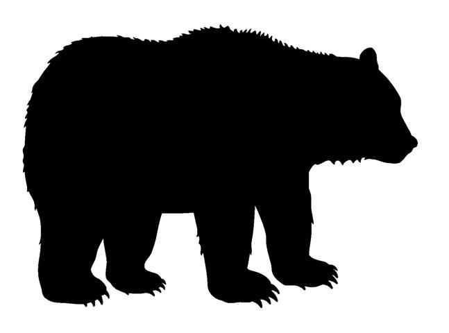 647x480 Top 10 Bear Silhouette Clip Art