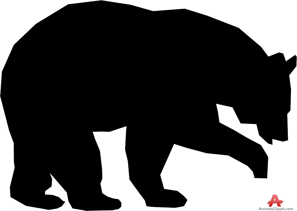 999x711 Bear Silhouette Clip Art