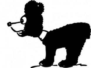 310x233 Bear Cub Silhouette Free Vectors Ui Download