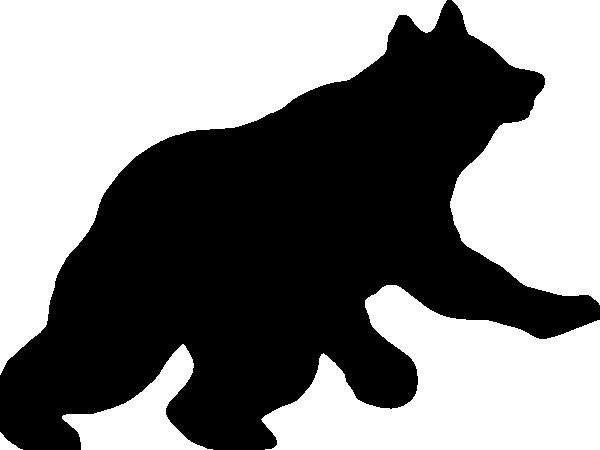 600x450 Bear Cub Silhouette Clipart