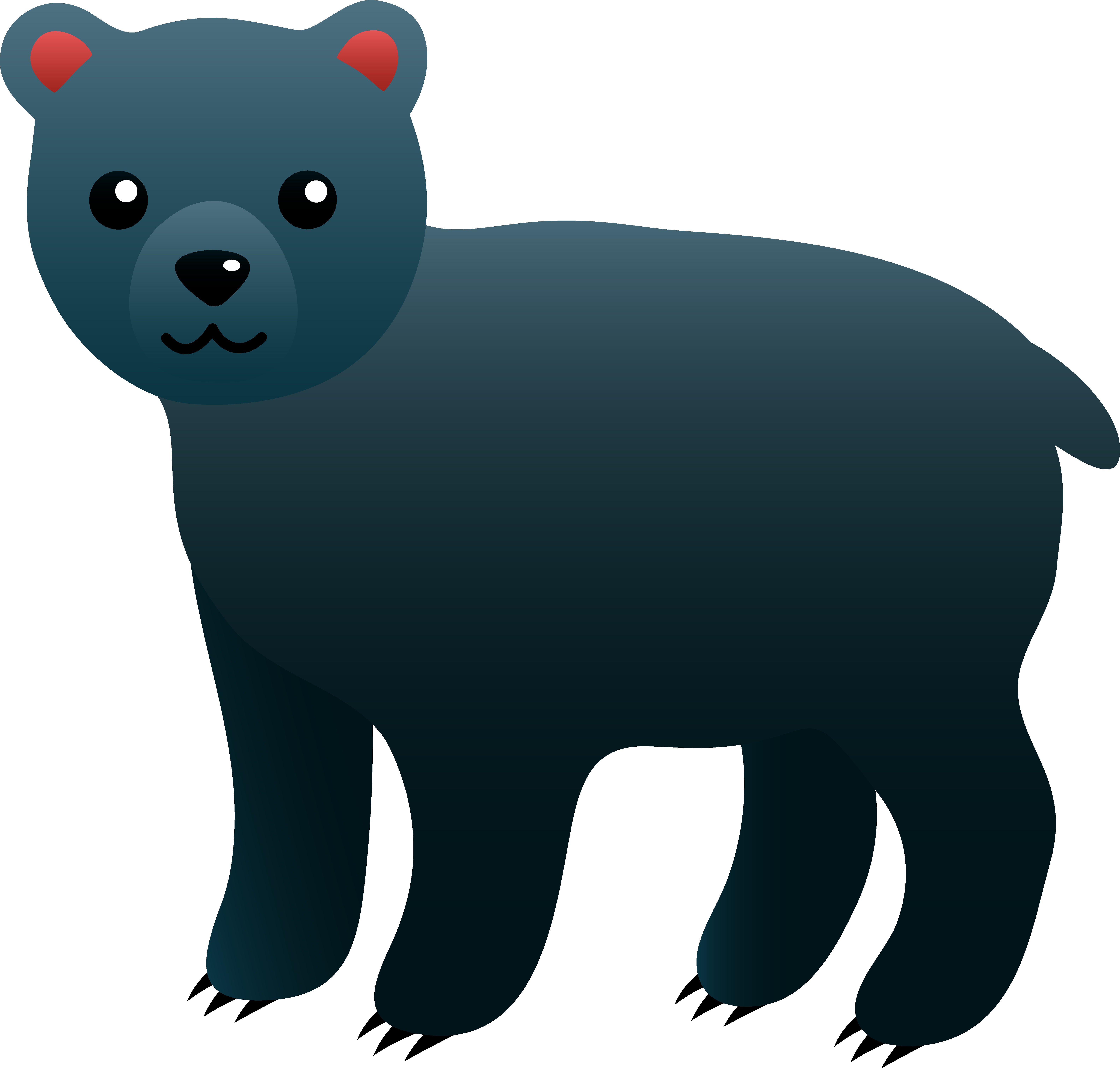 6342x6048 Bear Cub Clipart Animated