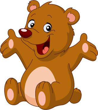 330x368 Bear Cub clipart head