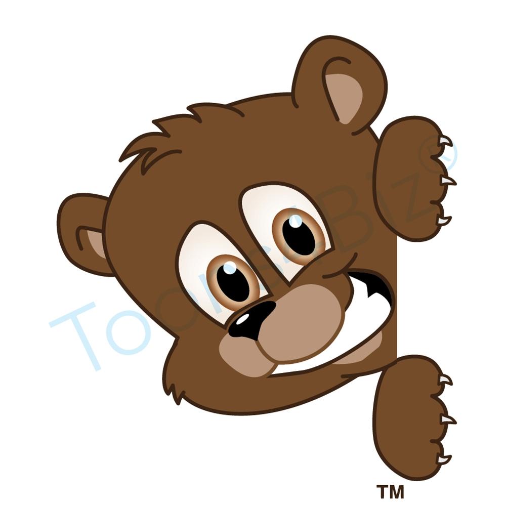 1000x1000 Bear Cub clipart mascot