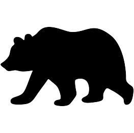 263x262 Best Bear Silhouette Ideas Animal Silhouette