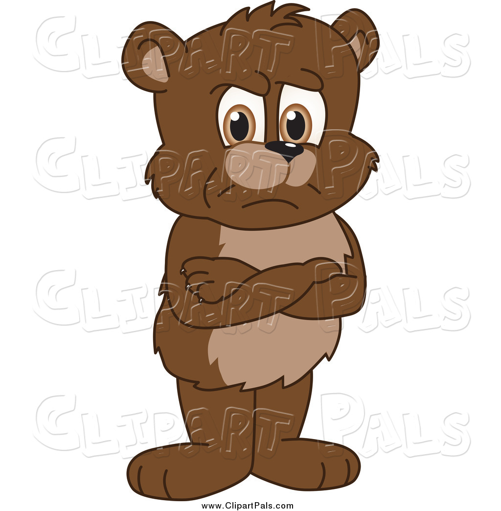 1024x1044 Pal Clipart Of A Bear Cub Standing Grumpily With His Arms Crossed