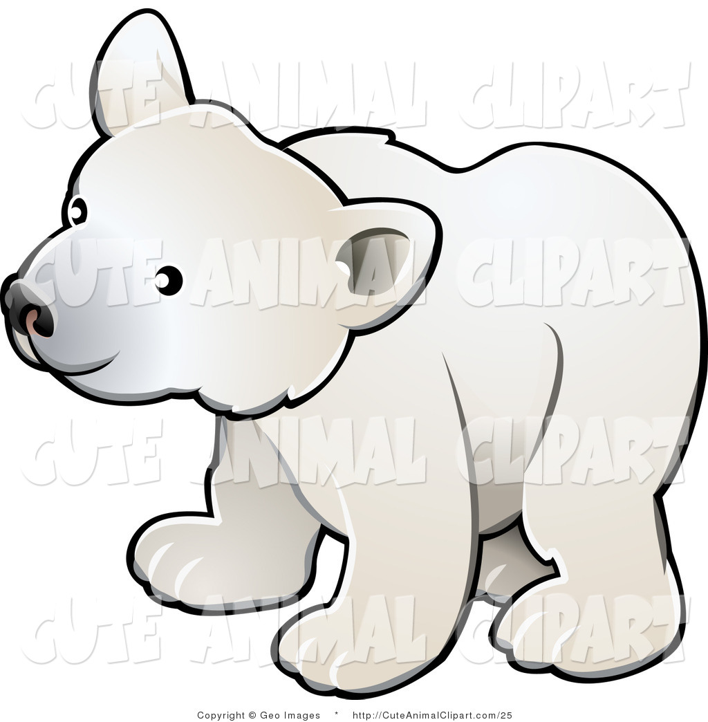 1024x1044 Vector Clip Art Of A Cute Polar Bear Cub By Atstockillustration