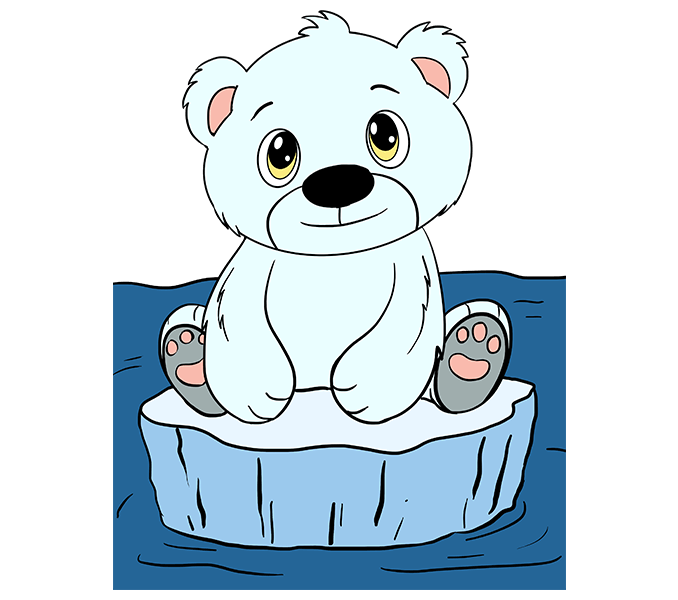 678x600 Bear Cub Clipart Drawn