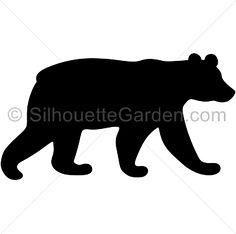 236x234 Bear Cub Silhouette Cricut Silhouettes, Bears and