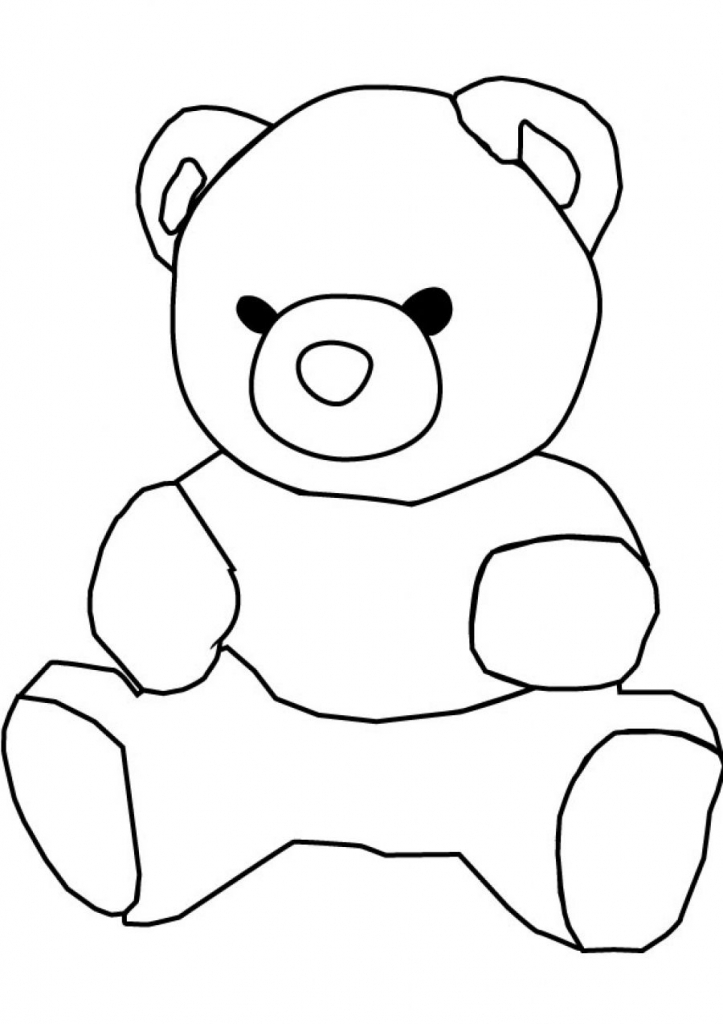 723x1024 Drawings For Kids Bear Drawing For Kids Clipart Best
