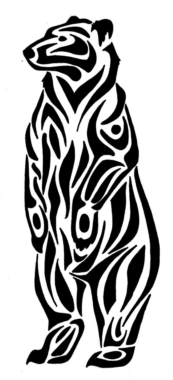736x1617 Native American Bear Drawing
