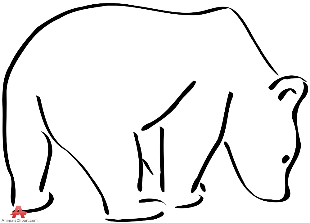 999x719 Outline Drawing Bear Free Clipart Design Download