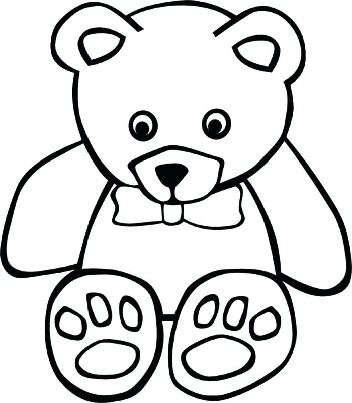 700x801 Outline Of A Bear Download Polar Bear Outline Drawing