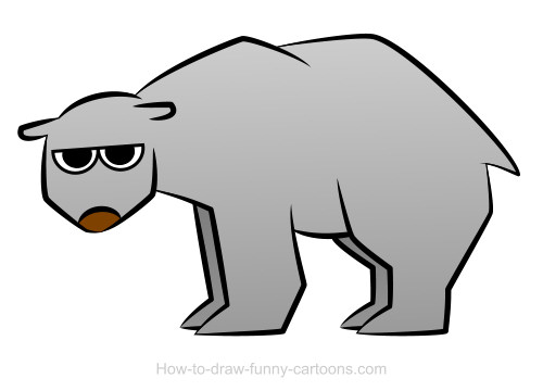 500x360 Polar Bear Drawings (Sketching + Vector)