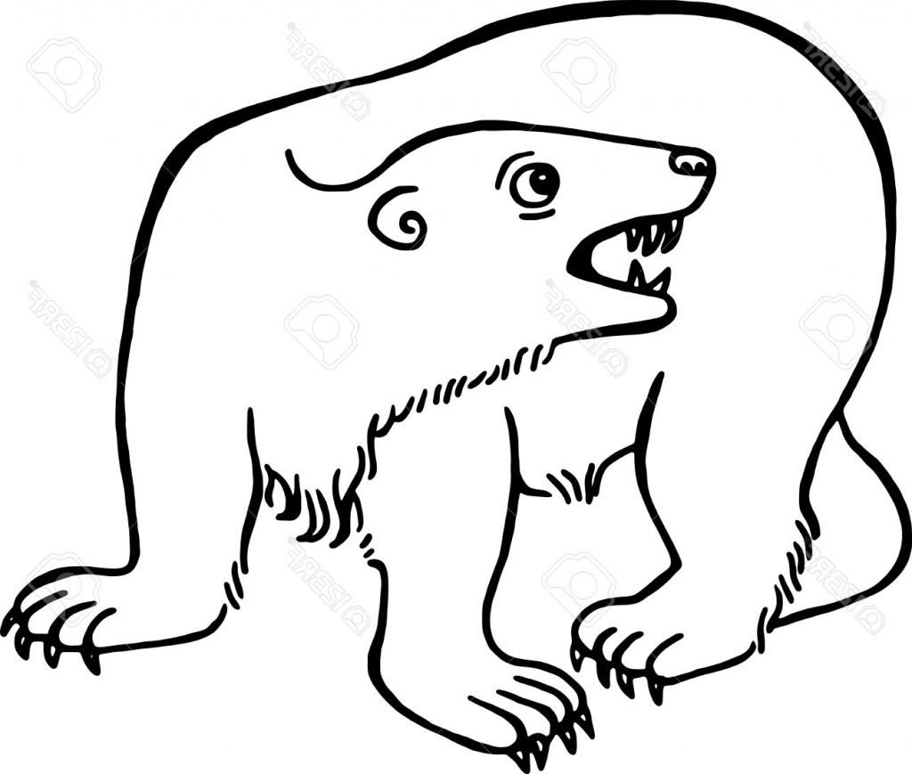 1024x869 Simple Drawing Bear Simple Blacknd White Line Drawing
