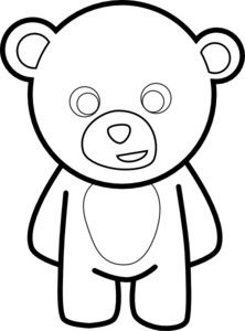 222x300 Bear Clipart Easy