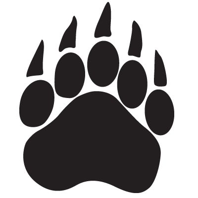 400x400 Bear Paw Print Bear Cub Paw Print Clip Art