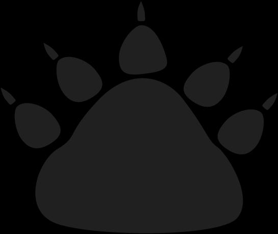 545x459 Black Bear Paw Print Clip Art
