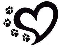 250x193 Black Bear Paw Print Clip Art Image
