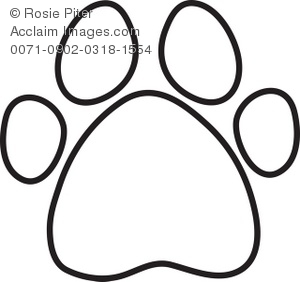 300x282 Dog Or Animal Paw Print Outline Royalty Free Clip Art Picture