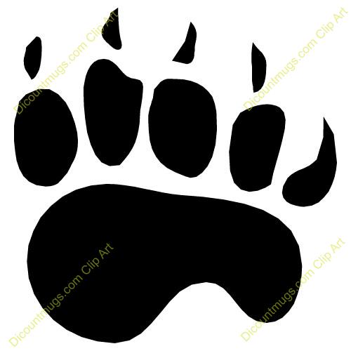 500x500 Footprint Clipart Polar Bear
