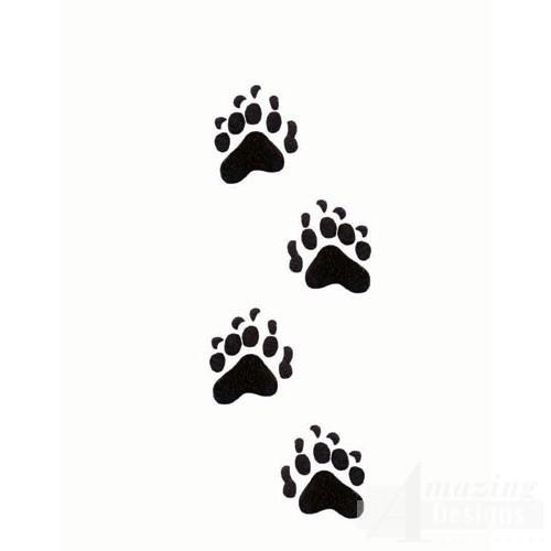 500x500 Grizzly Paw Print Tattoo Bear Paw Print Tattoo Body Art Clip Art