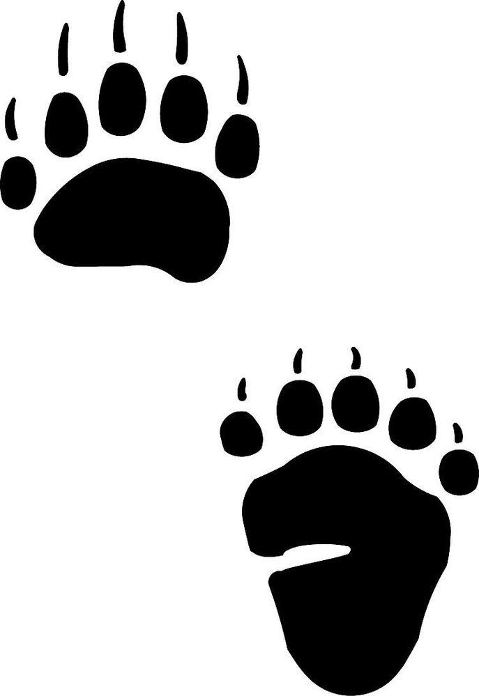 687x999 Paw Clipart Black Bear