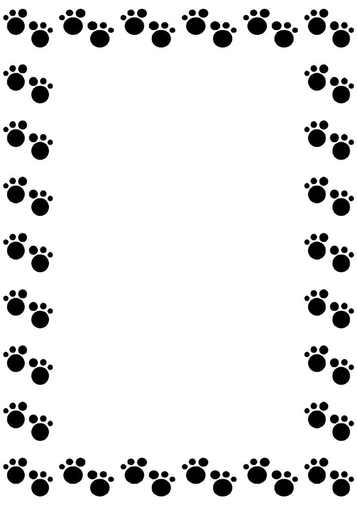 736x1041 Paw Prints Border Clip Art Clipart