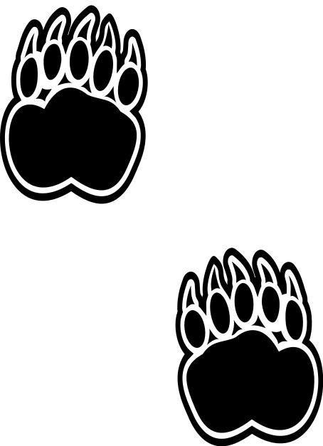 454x627 Bear Footprints Clip Art Download