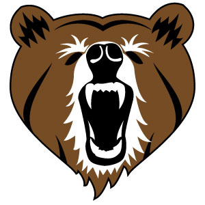 300x300 Bear Head Vector Clip Art