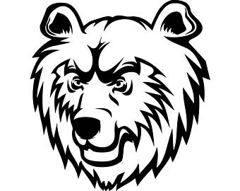 340x270 Bear Head Svg Etsy