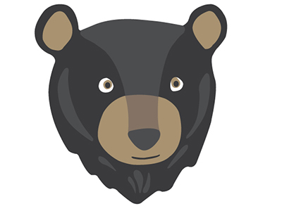 400x300 Black Bear Clipart Head