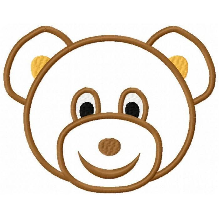 700x700 Brown Bear Clipart Cute Bear Head