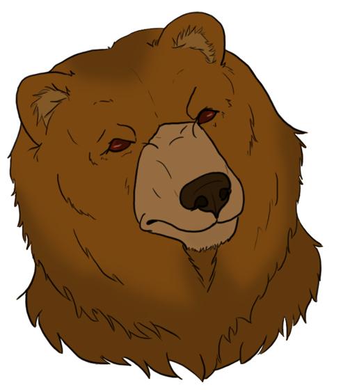 490x560 Evil Bear Head Clipart
