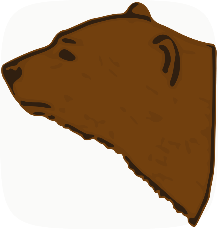 759x800 Free Clipart Bear Head Animals