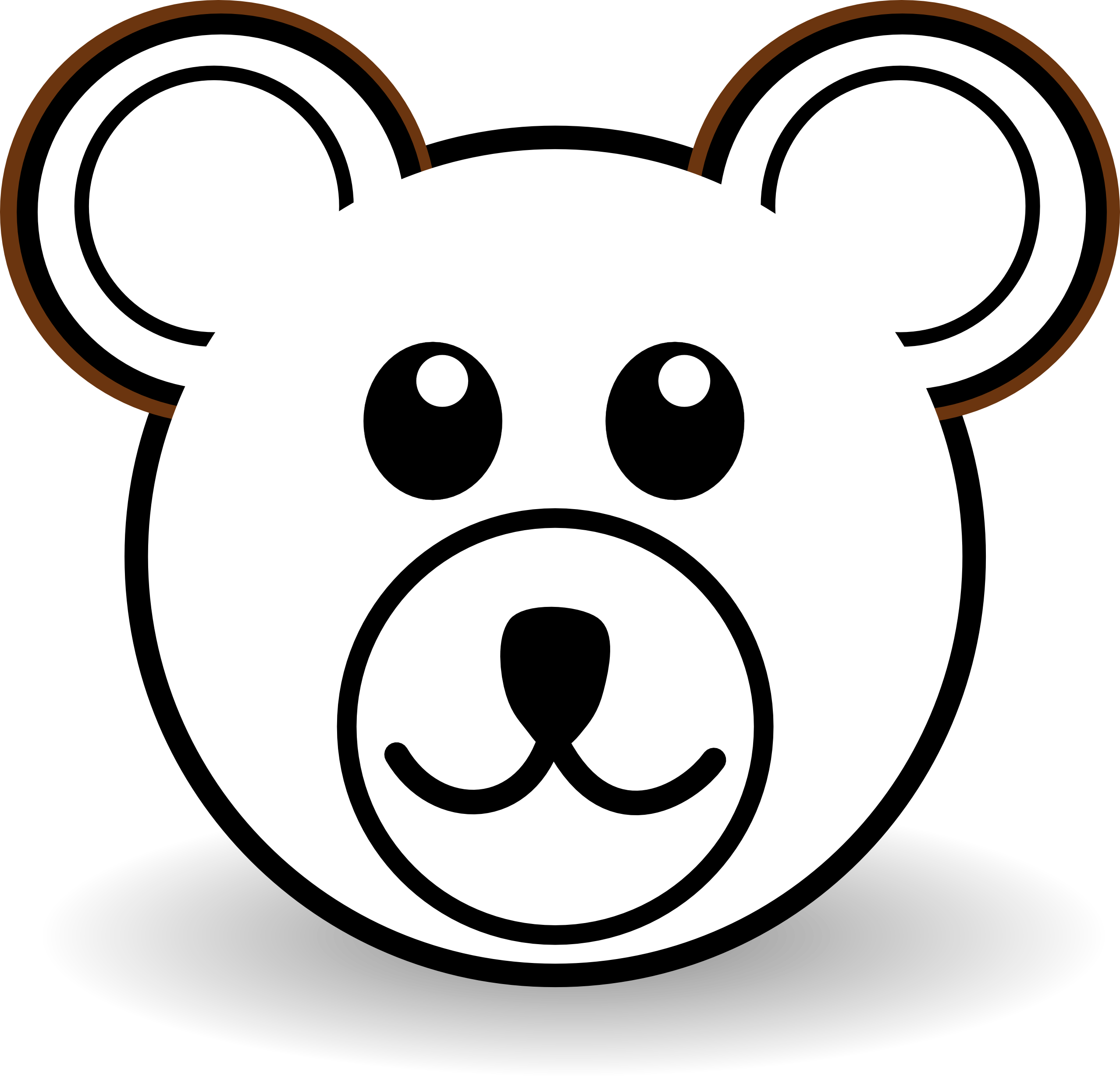 2555x2456 Koala Bear Clipart Cute Bear Head
