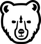 157x170 Bear Head Clip Art