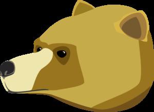 300x219 Bear Head Clip Art