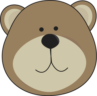 395x390 Bear Head Clipart