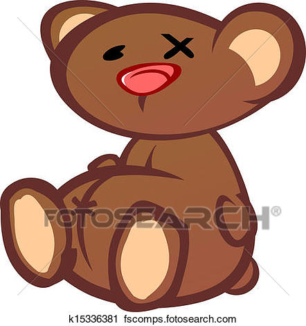 442x470 Clipart Of Old Beat Up Teddy Bear Cartoon Char K15336381